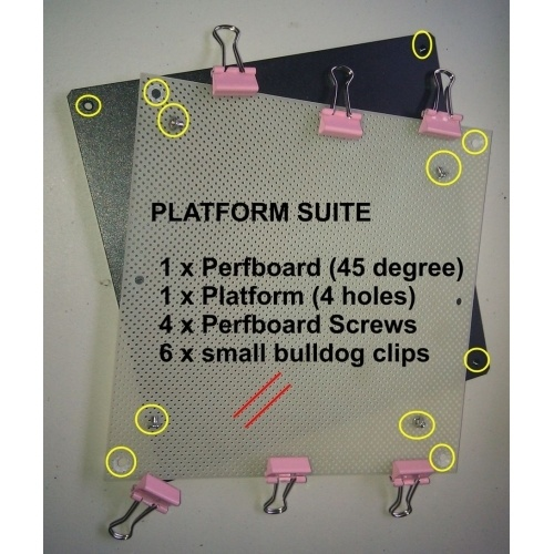 Platform Suite (incl metal platform, perfboard, screws, springs & thumb screws)